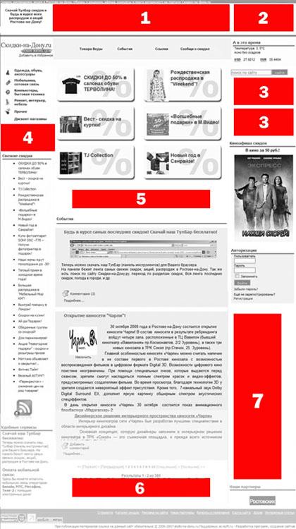 рекламные баннеры на портале скидки-на-Дону
